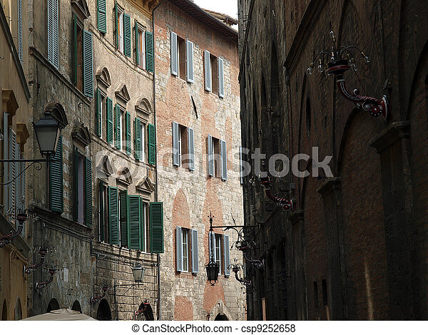 Siena - the medieval climate and characteristic colours - csp9252658
