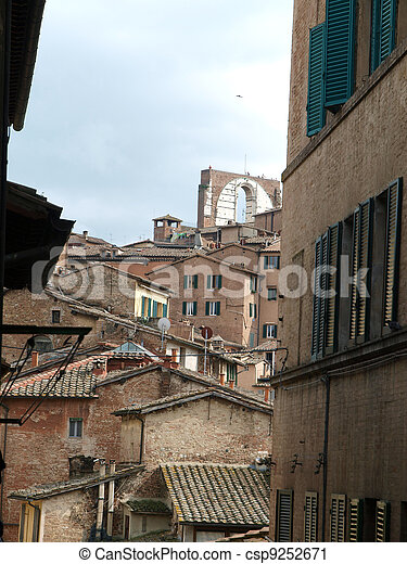 Siena - the medieval climate and characteristic colours - csp9252671