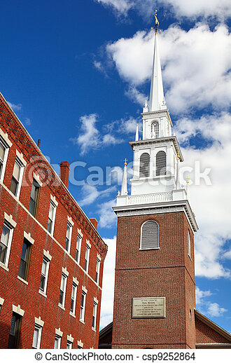 Old North Church Boston - csp9252864