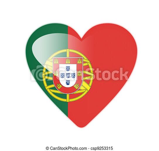 Illustration portugal 3d coeur form drapeau - Dessin du portugal ...