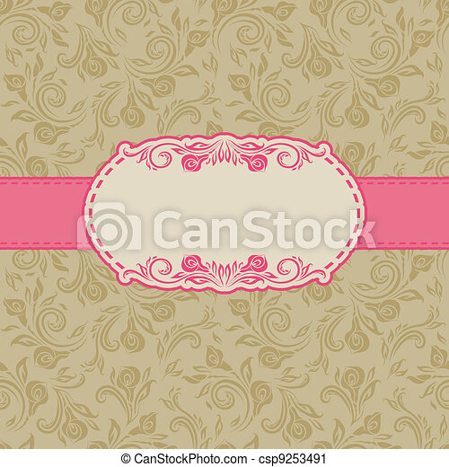 Template frame design for greeting card . - csp9253491