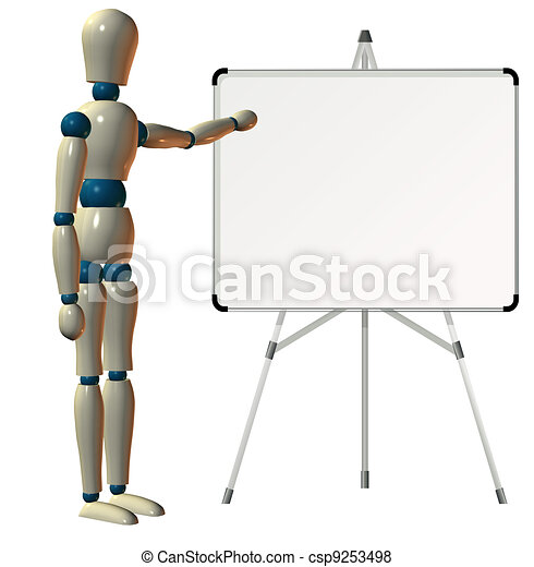 Teaching on white board - csp9253498