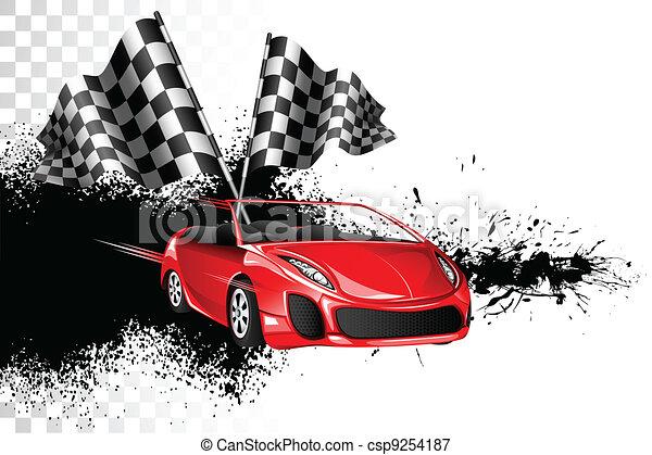 Car Race - csp9254187