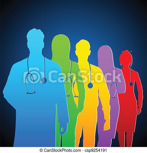 Team of Doctor - csp9254191