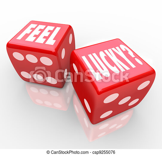 Feel Lucky Question on Dice Winning Confidence - csp9255076