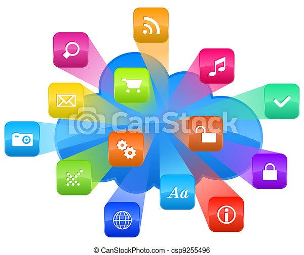 Cloud computing concept - csp9255496