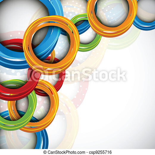 Background with colorful circles and dots - csp9255716