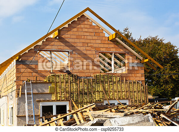 old house being renovated - csp9255733