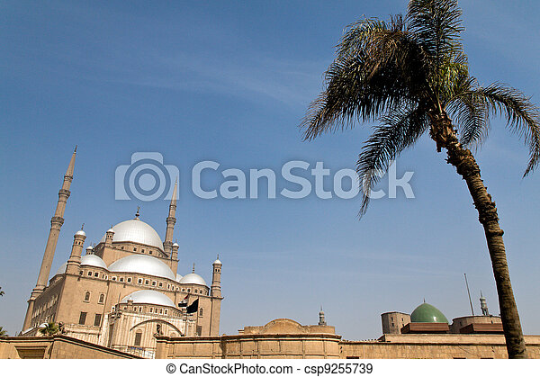 egypt, cairo. mohammed ali mosque. outside. - csp9255739