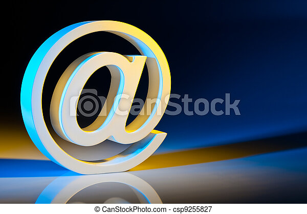 e-mail characters. online communications. - csp9255827