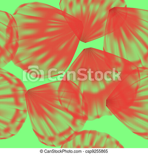 Red petals on green background - csp9255865