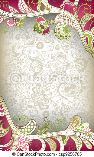 Abstract Curve Floral - csp9256705