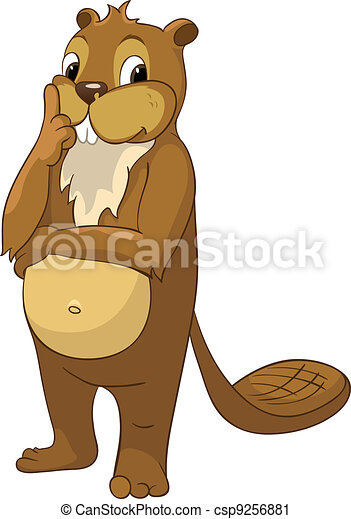 "Beaver CREES. Look For Funny Beaver by keyword ""CREES"" - csp9256881"