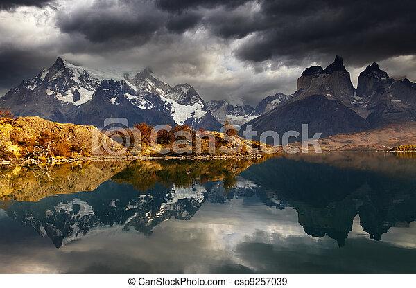Sunrise in Torres del Paine National Park - csp9257039