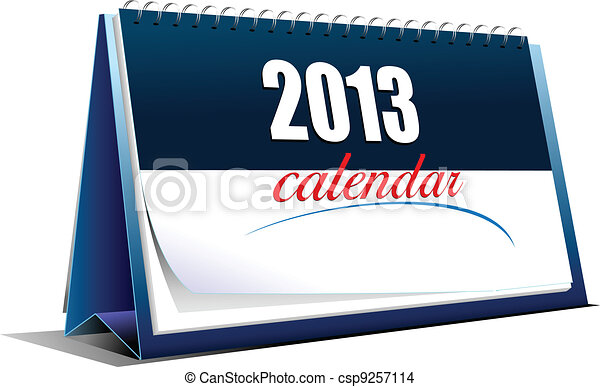 Vector illustration of desk calenda - csp9257114