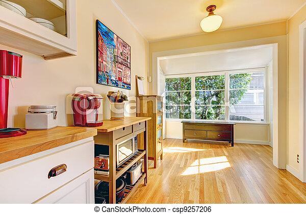 Stock de imagenes de grande esquina ventana banco for Banco de esquina para cocina