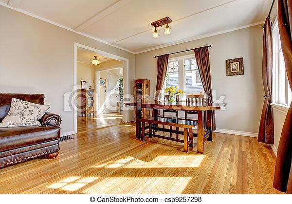 Pel culas de marr n habitaci n madera dura piso cenar for Cuarto piso pelicula