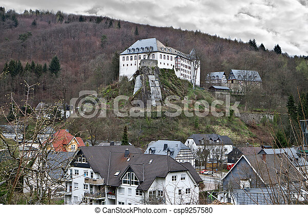 The castle was Bilstein 1202 to 1225 built on the Rosenberg directed the squire Dietrich II of Gevor. Germany  - csp9257580