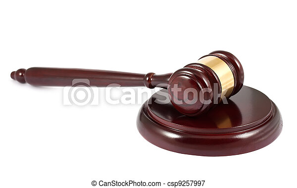 Wooden gavel - csp9257997