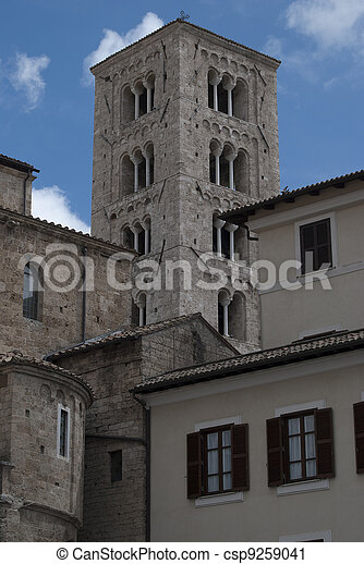 The bell tower of the duomo of anagni - csp9259041