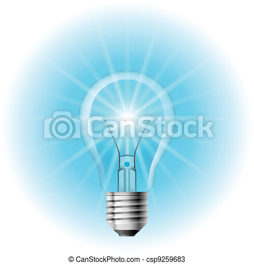 The lamp with the blue light - csp9259683