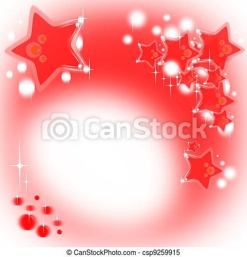 Red Christmas background with stars - csp9259915
