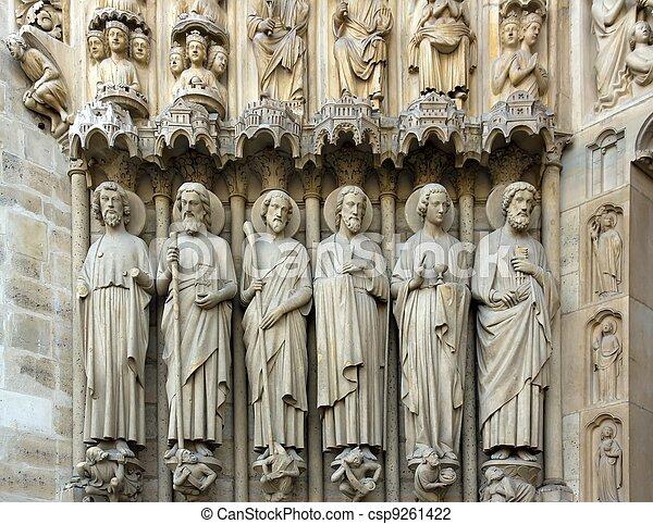 the apostles, Notre Dame de Paris   - csp9261422