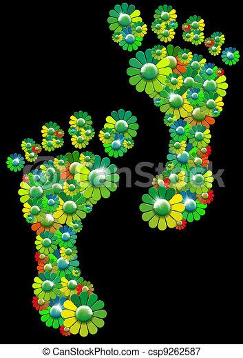 Flowers footprints - csp9262587