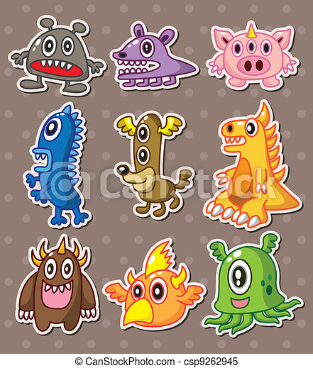 monster stickers - csp9262945