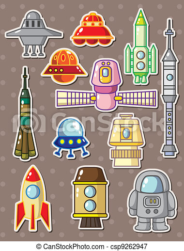 rocket stickers - csp9262947