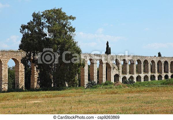 The Roman aqueduct  - csp9263869