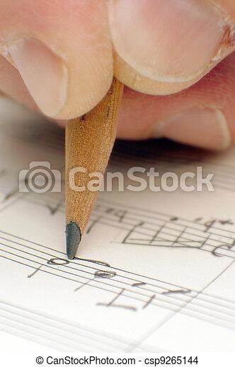 writing a song - csp9265144