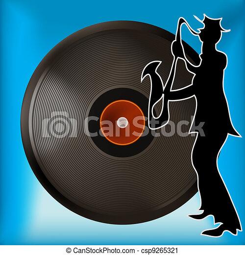 Vinyl Record Background - csp9265321