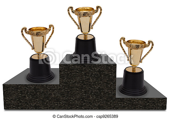 First, Second and Third Place - csp9265389
