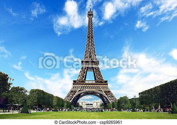 Paris, The Eiffel Tower - csp9265961