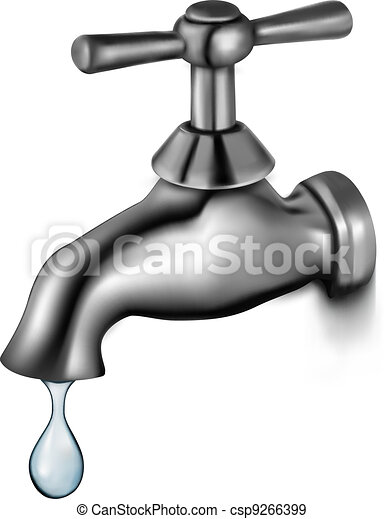 Water tap with drop  - csp9266399