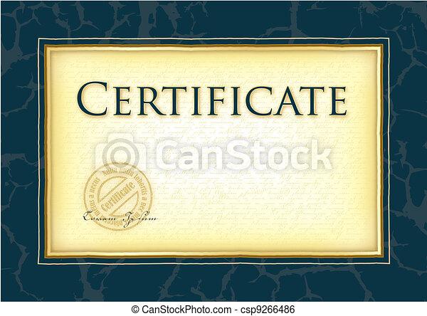 Model for diploma, certificate - csp9266486