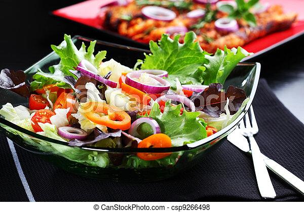 Farmer vegetable salad  - csp9266498