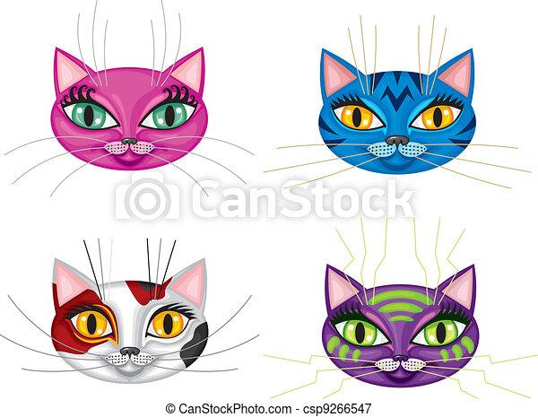 Kittens muzzles - csp9266547