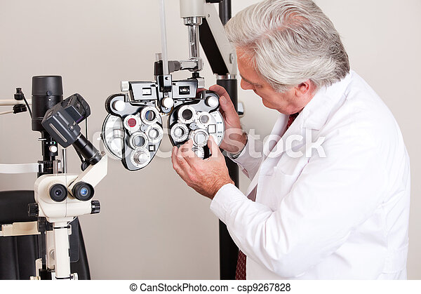 Doctor in Ophthalmology Clinic - csp9267828