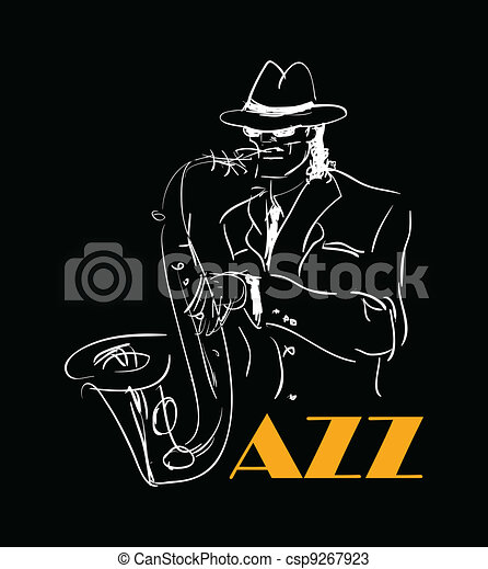 the saxophone player. eps8 - csp9267923
