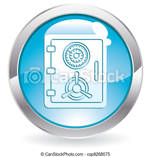 Button with Safe icon - csp9268075