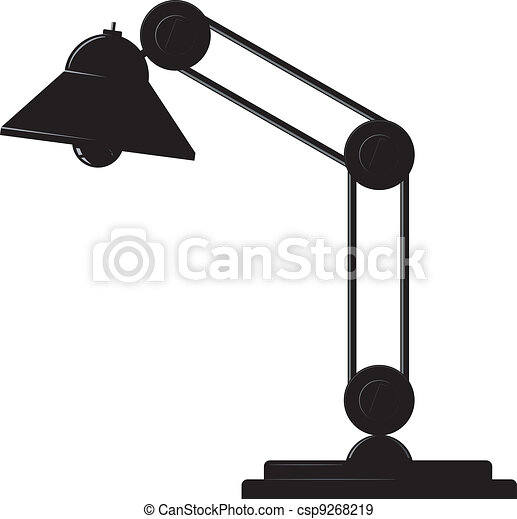 Desk lamp. Vector - csp9268219