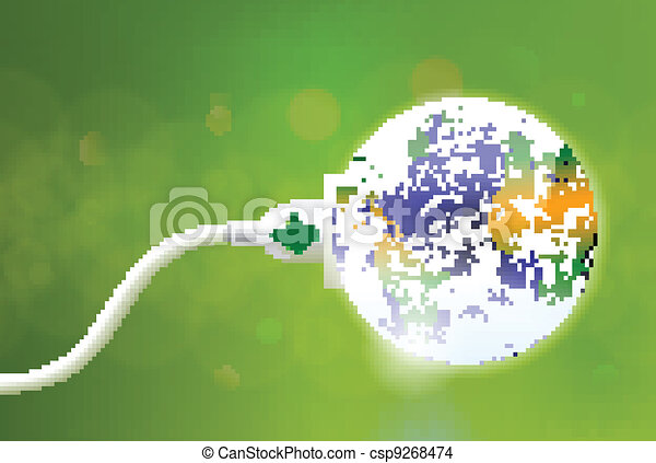 Green Energy Plug - csp9268474