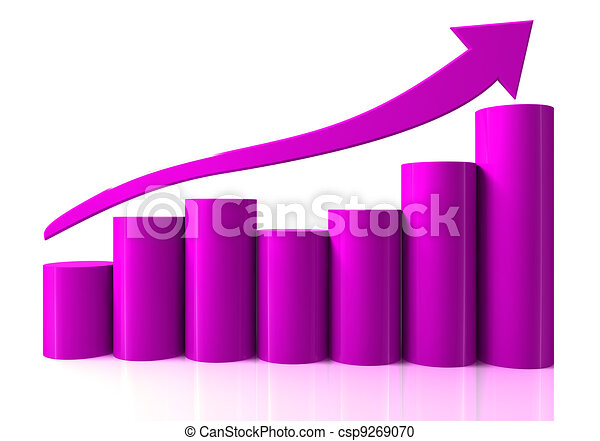 Growing bar chart from color blocks - csp9269070