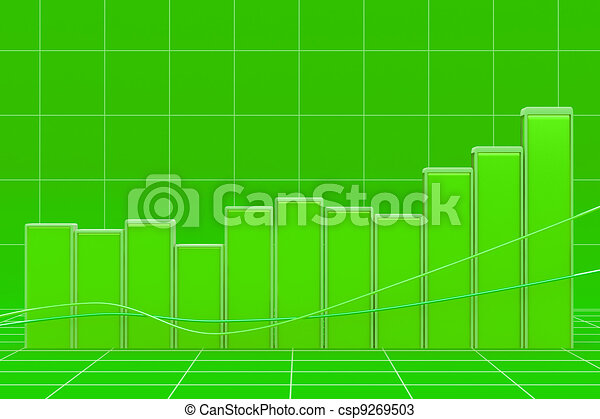 Growing bar chart from color blocks - csp9269503