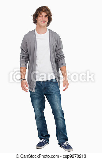 Male student standing - csp9270213