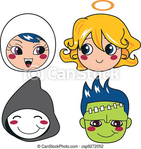 Halloween Monster Masks - csp9272052