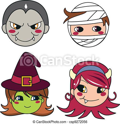 Halloween Monster Masks - csp9272056