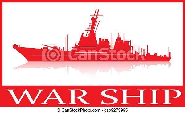 War ship. - csp9273995